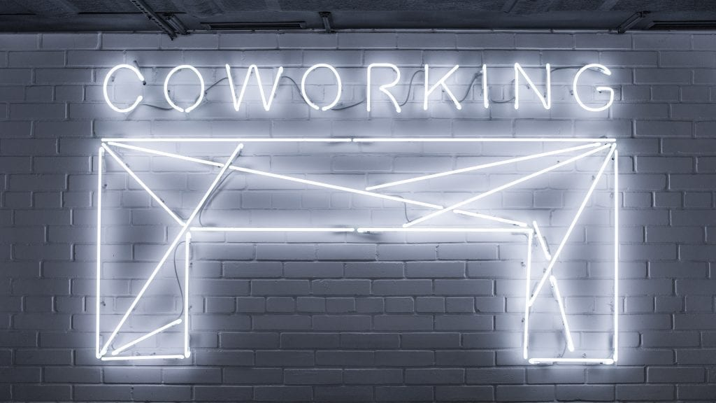 Coworking Space sign